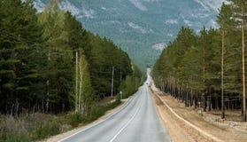 Straße zum Erholungsort Stockfotografie