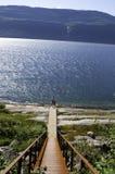 Straße zum Fjord Lizenzfreie Stockbilder