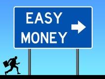 Straße zum flüssigen Geld stock abbildung