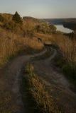 Straße zum Fluss Lizenzfreies Stockbild