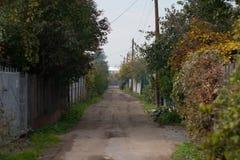Straße zum Geben Stockbild