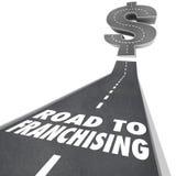 Straße zum Genehmigen des Geldes, das Gelegenheit neues Kettengeschäft macht lizenzfreie abbildung