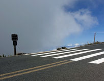 Straße zum haleakala Stockfoto