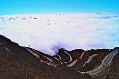 Straße zum Himmel stockfoto