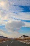 Straße zum Himmel lizenzfreie stockfotos