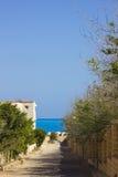 Straße zum Meer Lizenzfreie Stockbilder