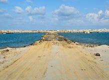 Straße zum Meer Stockfotografie
