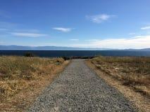Straße zum Meer Lizenzfreies Stockbild