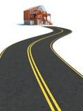 Straße zum neuen Haus Lizenzfreie Stockbilder