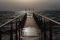 Straße zum Ozean Stockfotos