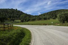 Straße zum Paradies in Toskana stockfotos