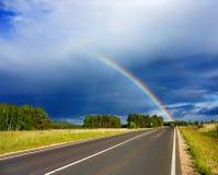 Straße zum Regenbogen Lizenzfreies Stockbild