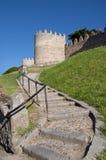 Straße zum Schloss Lizenzfreies Stockfoto