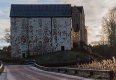 Straße zum Schloss lizenzfreies stockbild