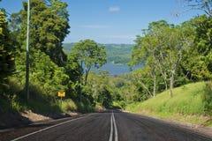 Straße zum See Baroon Lizenzfreies Stockfoto