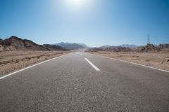 Straße zum Sharm el Sheikh, Ägypten, Süd-Sinai Stockbild
