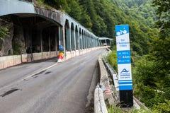Straße zum Spalte d'Aubisque Lizenzfreies Stockfoto