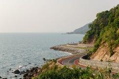Straße zum Strand Stockbild