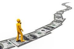 Straße zum Vermögen Lizenzfreies Stockfoto