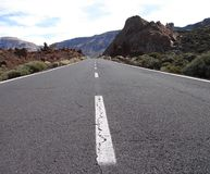 Straße zum Vulkan lizenzfreies stockfoto