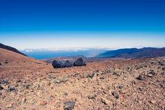Straße zum Vulkan Stockbild