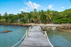 Straße zur Insel Stockfoto