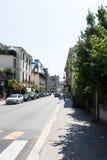 Straße zur Kirche Lizenzfreies Stockfoto