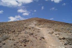 Straße zur Spitze eines Vulkans Stockbild