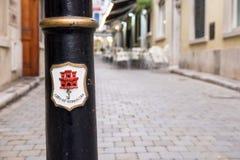 Straßen-Ansicht in Gibraltar Lizenzfreies Stockbild