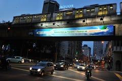 Straßen-Ansicht-Hintergrund Stockbild