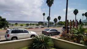 Straßen-Ansicht von einem Strand-Haus Lizenzfreie Stockfotos