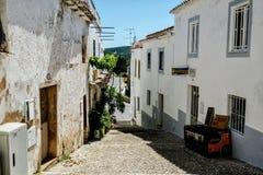 Straßen-Ansichten von Albufeira Portugal Stockbild