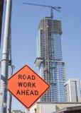 Straßen-Arbeit voran lizenzfreie stockfotos