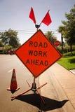 Straßen-Arbeit voran Stockfotografie