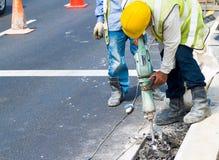 Straßen-Arbeiten Stockfotos