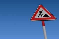 Straßen-Arbeits-Verkehrsschild lizenzfreie abbildung
