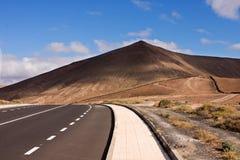 Straßen auf der Insel von Lanzarote Stockfotos