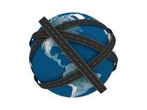 Straßen auf Erde Lizenzfreie Stockfotografie
