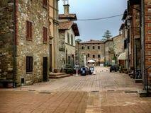 Straßen auf Isola Maggiore im See Trasimeno Umbrien Stockfoto