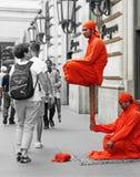 Straßen-Ausführende in Rom Stockfotos