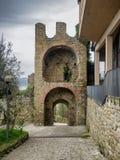 Straßen in Borgo-sul Trasimeno in Umbrien Stockfoto