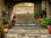 Straßen in Borgo-sul Trasimeno in Umbrien Stockfotos