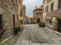 Straßen in Borgo-sul Trasimeno in Umbrien Stockbild