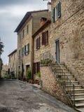 Straßen in Borgo-sul Trasimeno in Umbrien Lizenzfreie Stockfotos