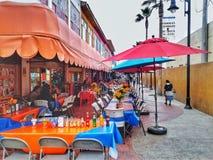 Straßen-Cafés in Ensenada, Mexiko lizenzfreie stockbilder
