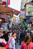 Straßen Crowdy Istanbul Lizenzfreie Stockfotos