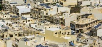 Straßen der maltesischen Stadt von Victoria Stockbilder