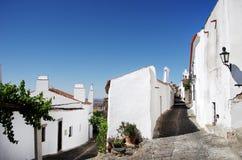 Straßen des Monsaraz Dorfs Lizenzfreie Stockfotos