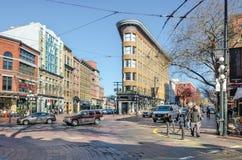 Straßen des Vancouvers, Kanada Stockbild