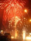 Straßen-Feuerwerke Lizenzfreies Stockfoto